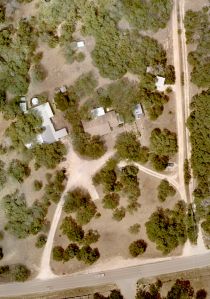 Orthomap of a 3-acre property